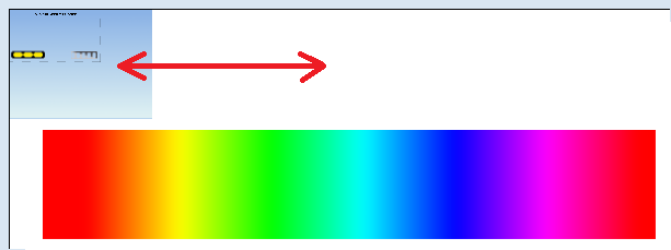 The colour gradient moves back and forth along the red line behind the sky, creating a tripped-out effect.